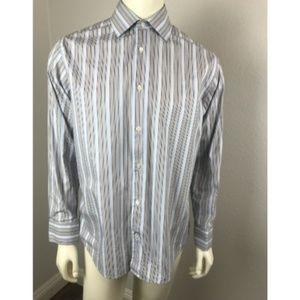 BANANA REPUBLIC Medium Shirt Rays Blue 100% Cotton